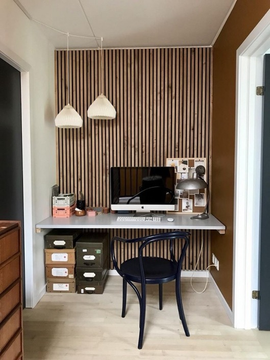 Sandahl & Madsen WoodUpp akupanel på væg i kontor