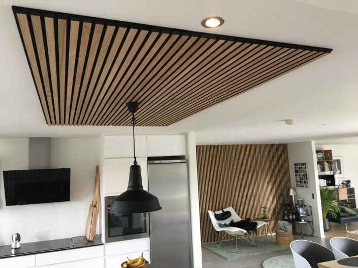 Sandahl & Madsen WoodUpp akupanel på loft i køkken